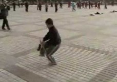 Young Boy Performs Tai Chi Sword Form