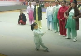 Three Year Old Performing Tai Chi
